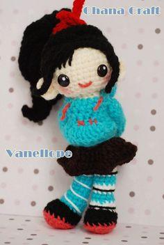 Vanellope Von Schweetz crochet amigurumi by OhanaCraftAmigurumi