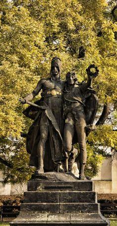 Josef Václav Myslbek - Záboj and Slavoj (from sculptural group from Czech…