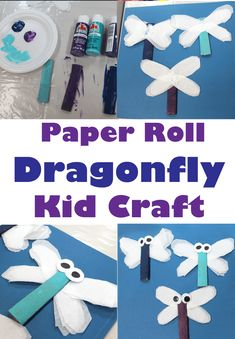Looking for a fun paper roll kid craft? Try this paper roll dragonfly kid craft. You need just a few supplies to make these bugs. Great for a bug theme. Insect Crafts, Bug Crafts, Kids Crafts, Craft Kids, Kids Craft Supplies, Craft Activities For Kids, Preschool Ideas, Crafts For Teens To Make, Summer Crafts For Kids