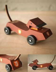 Dachshund Clube -- Wish I'd seen this back when my children were doing Pinewood derby cars! Disney Cars Birthday, Cars Birthday Parties, Cub Scouts, Girl Scouts, Dog Car Accessories, Cub Scout Activities, Draplin Design, Custom Car Interior, Club