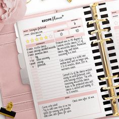 PrintableForPlanners shared a new photo on Etsy Do you keep your favourite recipes in one place? The recipe planner is great for collecting recipes! Kikki K Planner, Planner Layout, Meal Planner, Happy Planner, Planner Ideas, Agenda Planner, Filofax, Planner Diy, Bullet Journal Layout