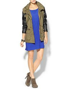 ea1d9e8612 Hive & Honey Vegan Leather Sleeve Anorak | Piperlime Fall Must Haves,  Lightweight Jacket,