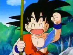 15. Nunca te vas a olvidar de la primera vez que fuiste a pescargoku sonriendo y pescando kickfeed