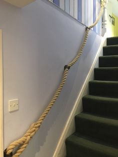 Rope Railing, Banisters, New Homes, Stairs, Dining Room, House, Home Decor, Stairway, Decoration Home