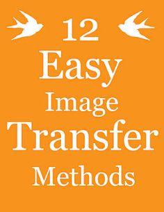 Image transfers - DIY - different methods