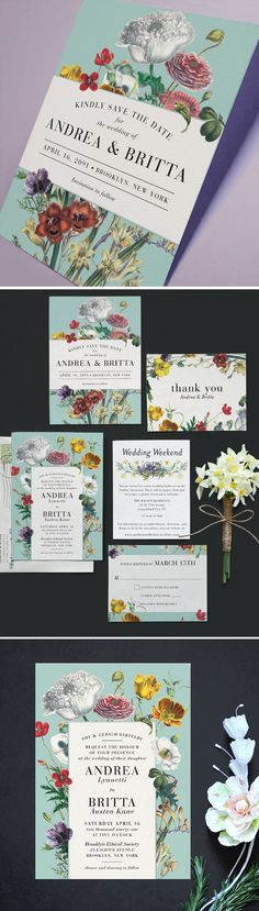 wildflowers for your big day. Stationery from Printable Press