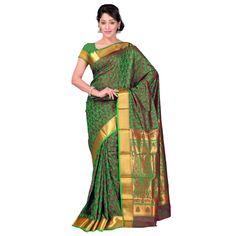 kanchipuram pure silk sarees online with zari border,sarees :- kanchipuram nandani art silk,blouse :- zari border,work :- theme desgin, emboss butta
