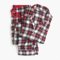 Because winter nights pretty much require cozy flannel pajama sets. Ours have an easy, comfy fit (plus cute patterns like this festive tartan) that makes them the perfect gift. Sits at hip. Hits at hip. 32 inseam. Cotton. Machine wash. Import. Online only.