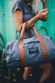 Fitness on the go starts here. The Roadie Gym Duffel shown in Heather Blue. Buy your new favorite gym bag today at Vooray for only $29.99.