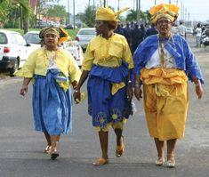 Creolen | Kotomisi, creoolse vrouwen in klederdracht | Suriname
