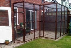 cat run enclosure 16 x 8 norwegian forest cats-herefordshire