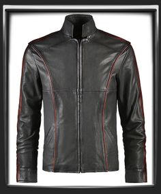 You have now unlocked the finest piece of clothing Commander Shepard will ever wear - the Mass Effect 3 Leather Jacket by Soul Revolver.  Made from Italian Antiqued Grey leather with Distressed Red piping and sleeve stripes. This waist length jacket has a tailored cut and a very unique collar design.