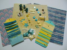 Inspiration KitTurquoise and Yellow for Mixed by hopefullworld