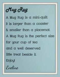 Craft-O-Logy: Mug Rug Vos