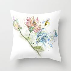 flowers Throw Pillow by Saoirse Liberti - $20.00 society6.com
