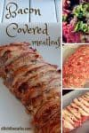 What a tasty and easy recipe for bacon covered meatloaf. It is low carb, wheat free, gluten free and you can hide all types of vegetables inside. It is paleo, Banting, LCHF, HFLC, grain free and gluten free. Great for dinner, lunch or school lunch boxes. Perfect for a picnic too. | ditchthecarbs.com