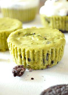 Mini Matcha Green Tea Oreo Cheesecakes RECIPE! PIN:  Mein Blog: Alles rund um Genuss & Geschmack  Kochen Backen Braten Vorspeisen Mains & Desserts!