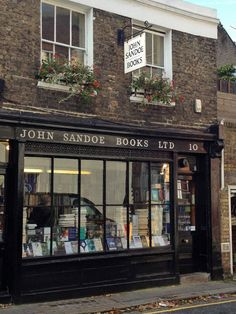 I want to go to there! John Sandoe Books.  A wonderful independent bookstore in London.
