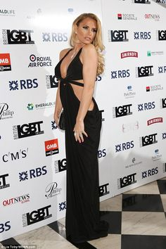 The TV star turned heads as she arrived at London's Grand Connaught Rooms for the star-studded event
