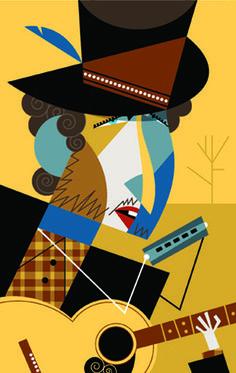 Bob Dylan - dibujo de Pablo Lobato