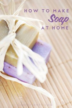 How to make soap at home...We all want to save money.  Often, though, we look at big ticket items as ways to save lots of money, and we fail to see there are smaller things that can help us save money, too.  Let's look at one of those smaller items – soap – and a way to save a few dollars on it over time by making it yourself.  Also, by making the soap yourself, you can obviously know the ingredients, so you can feel a little better about what you are putting on your body....