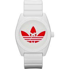 #AdidasOriginalsWatches, #FashionAccessories, #Watches - adidas originals Watches Originals Santiago White with Red - adidas originals Watches Watches