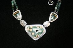 Sterling Silver Ocean Jasper Statement Necklace on Etsy, $235.00