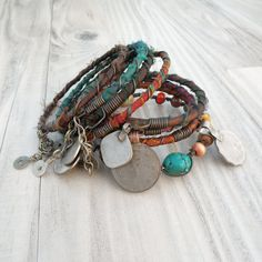 Silk Road Gypsy Bangle Stack    8 Bohemian Tribal by GypsyIntent, $79.00
