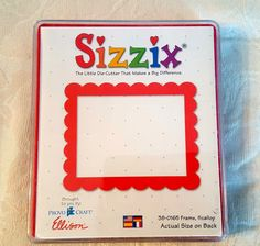 Sizzix 38-0165 Frame Scallop Large Red Die Cut Scrapbooking Provo Craft Ellison #Sizzix