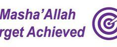 Mashallah Target Achieved Stamp (purple)   The Muslim Sticker Company