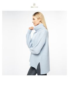 Obsessed with winter sky blue knitwear ❄️ Cashmere Turtleneck, Cashmere Wool, Cashmere Sweaters, Winter Sky, Sweater Outfits, Capsule Wardrobe, Stretch Fabric, Knitwear, Tights