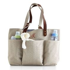 Ultimate Linen Carry All #makeyourmark... @Suzanne Mohler cute summer diaper bag! and i may have to get one too!