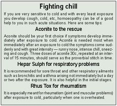Homeopathy for Colds and Respiratory Problems.   #health