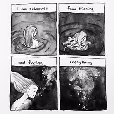 I'm drowning in my thoughts Mbti, Introvert Quotes, My Bubbles, Infj Personality, Bd Comics, Wow Art, Story Of My Life, Sad Quotes, Anxiety