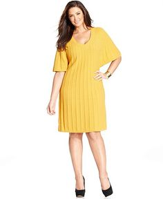 Style Plus Size Dress, Butterfly-Sleeve Cable Sweater - Plus Size Dresses - Plus Sizes - Macy's