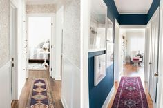 Inspiration and ideas for decorating a narrow hallway. This post rounds up 10 different halls with unique design elements.
