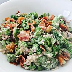 Broccolisalat med bacon - den perfekte salat (opskrift) | Livets små ting