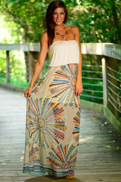 This maxi is so dreamy! The sheer overlay is so pretty and will keep you cool on those hot summer nights!