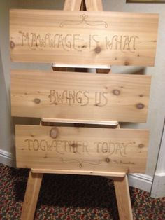 Quirky touch to this wedding!