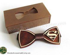 Holz Fliege Superman hölzerne Superhelden ds-Comics Zubehör Hochzeitsgeschenk präsentieren Clark Kent Smallville Batman Lego Film Justice League