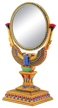 Winged Egyptian Scarab Mirror Collectible Decoration Model => Find out more details by clicking the image : Christmas Decorations