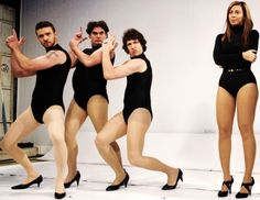 Love Andy Samberg, Bobby Moynihan and Justin Timberlake in their leotards!