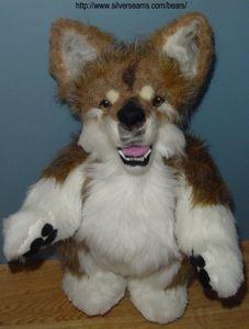 Teddywolf/dog, found on : http://www.allfreecrafts.com/sewing/toys/wolf.shtml