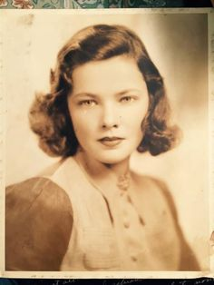 Young Gene Tierney, possibly yearbook photo