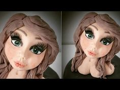 tutorial viso - sculpting face sugar paste pasta di zucchero fondant cak...