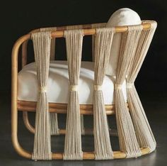 "scanhome: ""Strings Attached chair by Palecek Design """