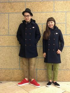 DANTON × URBAN RESEARCH DOORS : HOODESD WOOL MOSSER LONG COAT