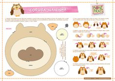 Coruja Naninha (PAP com molde) by BoniFrati ® bonifrati.com.br, via Flickr