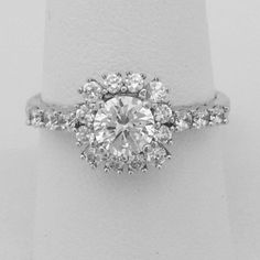 Half Carat Cubic Zirconia Halo Engagement Ring Sterling Silver Rhodium – CZ Sparkle Jewelry®