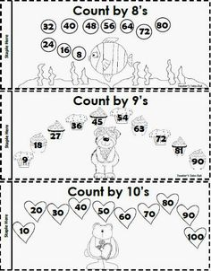 Teacher's Take-Out: Skip Counting Booklet - Freebie 3rd Grade Classroom, 3rd Grade Math, Classroom Ideas, Homeschool Math, Homeschooling, Counting By 10, Factors And Multiples, Teaching Math, Maths